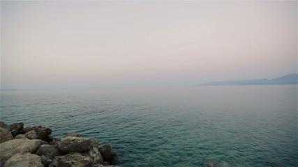 Wonderful seascape. Evening.