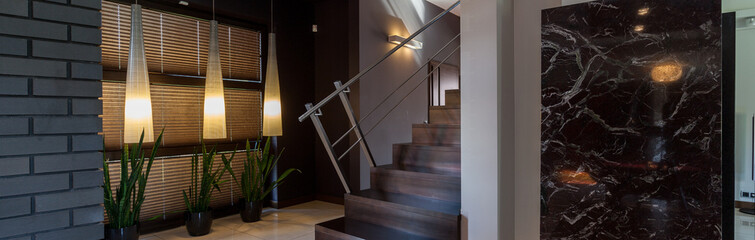 Modern interior with stairs