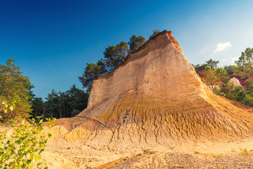 Red Cliffs in Roussillon, Provence, France