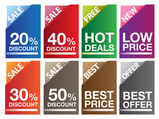 Colorful Magazine Files with Sale and Marketing Messages