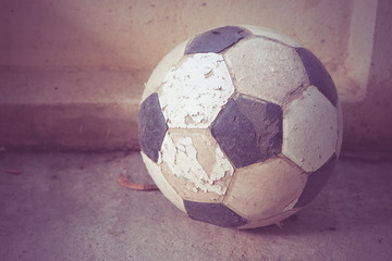 old foot ball with filter effect retro vintage style