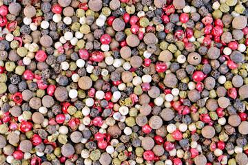 Pepper different textures