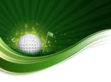 Fototapety golf ball wave