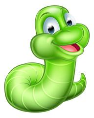 Cute Cartoon Caterpillar Worm