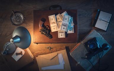Dollar packs and gun