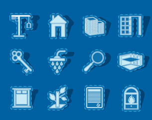 Simple Real Estate icons - Vector Icon Set