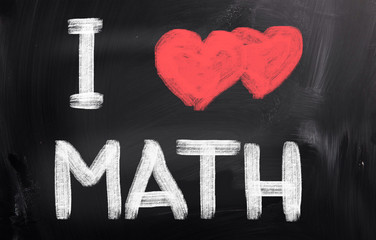I love Math Concept