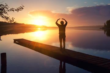 Meditationsübungen am See