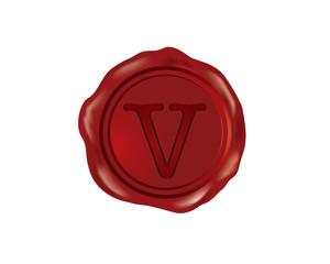 V Wax Sealer Alphabet