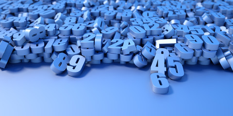 Numbers background, original three dimensional models.