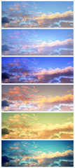 A set of the beautiful sky banners.