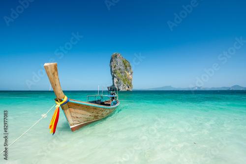 Poster Beach landscape in krabhi Thailand