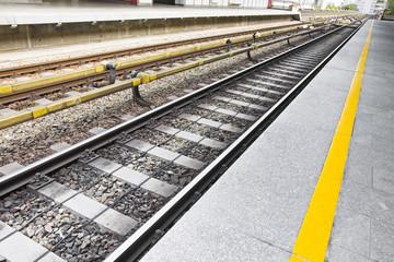 Detail of a railway line in Wien - Austria