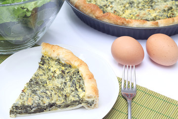 Quiche with chard and cheese