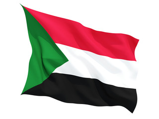 Waving flag of sudan