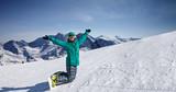 snowboard  at snow hill, Solden, Austria, extreme winter sport