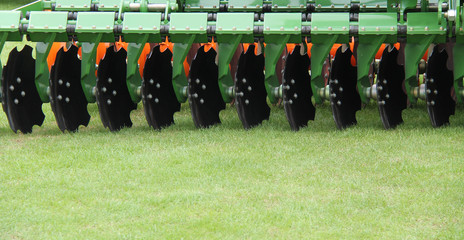 The Discs of an Agricultural Harrowing Machine.