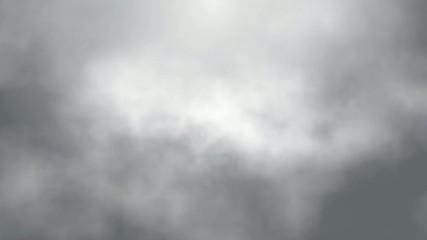 flight over fog smoke clouds animation, seamless loop ready