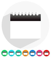 Flat modern minimal calendar icons. Vector. Eps 10.