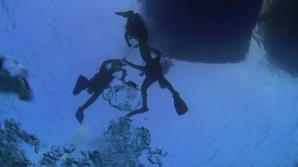Divers Preparing to Dive, Red sea