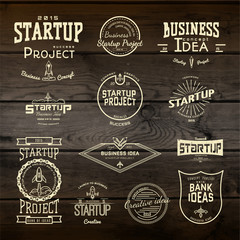 Startup project badges logos and labels for any use