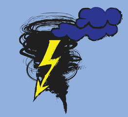 doodle tornado symbol