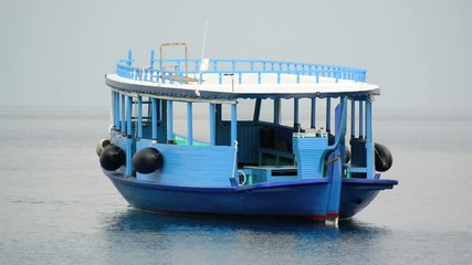 Tourist transportation motorboats in Male, Maldives