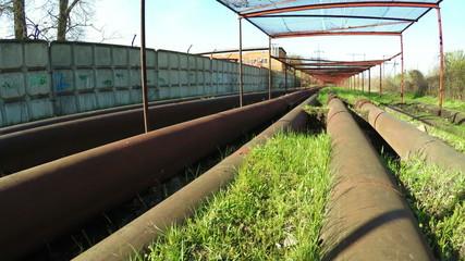Safety net under power lines