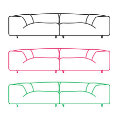 Living room sofas in different colors