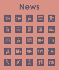 Set of news simple icons