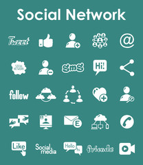 Set of social network simple icons