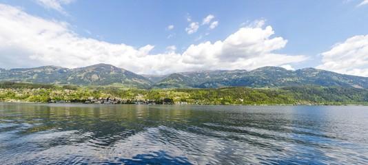 View To Lake, City  Alp Millstatt Panorama In Spring