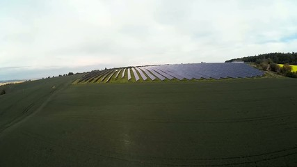 field of grain and solar power station