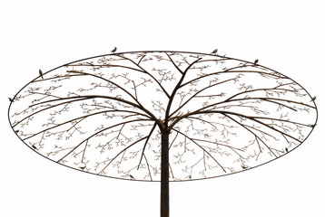 Arbol con pájaros