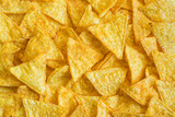 Fototapety Background of Corn Tortilla Chips or Nachos