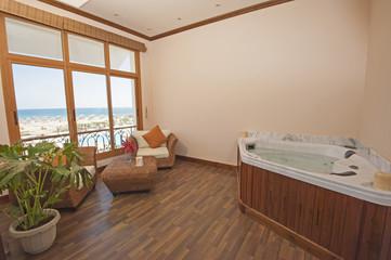 Bath in a health spa private room