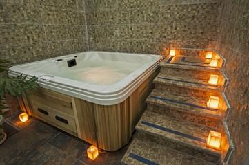 Bath in a health spa