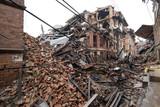 KATHMANDU, NEPAL - APRIL 30, 2015: The debris of buildings in th