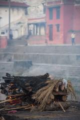 KATHMANDU, NEPAL - MAY 03 : Kathmandu residents perform crematio