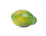 green papaya in white background