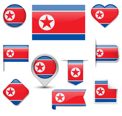 North Korea Flag Collection