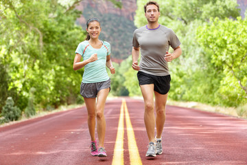 Running Health and fitness - runners jogging