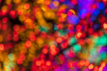 Abstract circular bokeh background of LED bulblight.
