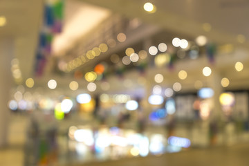 Supermarket store blur background with bokeh.