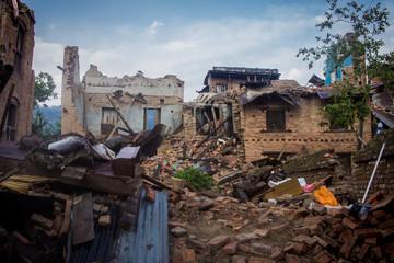 Dorf in Nepal nach dem Erdbeben 2015