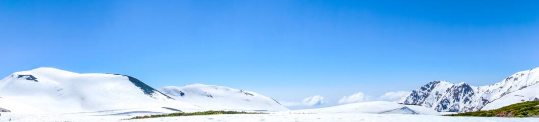 立山連峰のパノラマ風景
