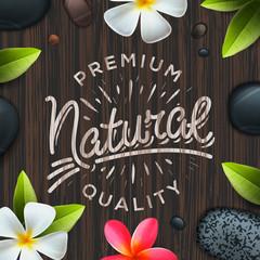 Natural premium quality label, spa concept