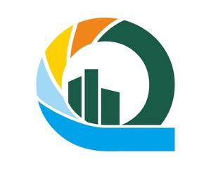 abstract circle financial logo