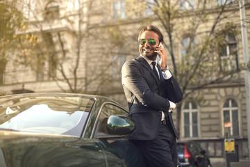 Self-confident businessman