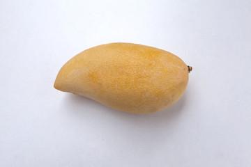 Yellow mango on white background